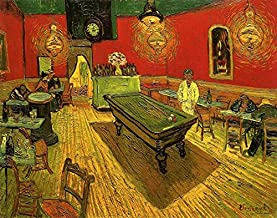 Wieco Art - The Night Cafe in The Place Lamartine in Arles by Van Gogh Famous Oil Paintings Reproduction Artwork Pictures ...