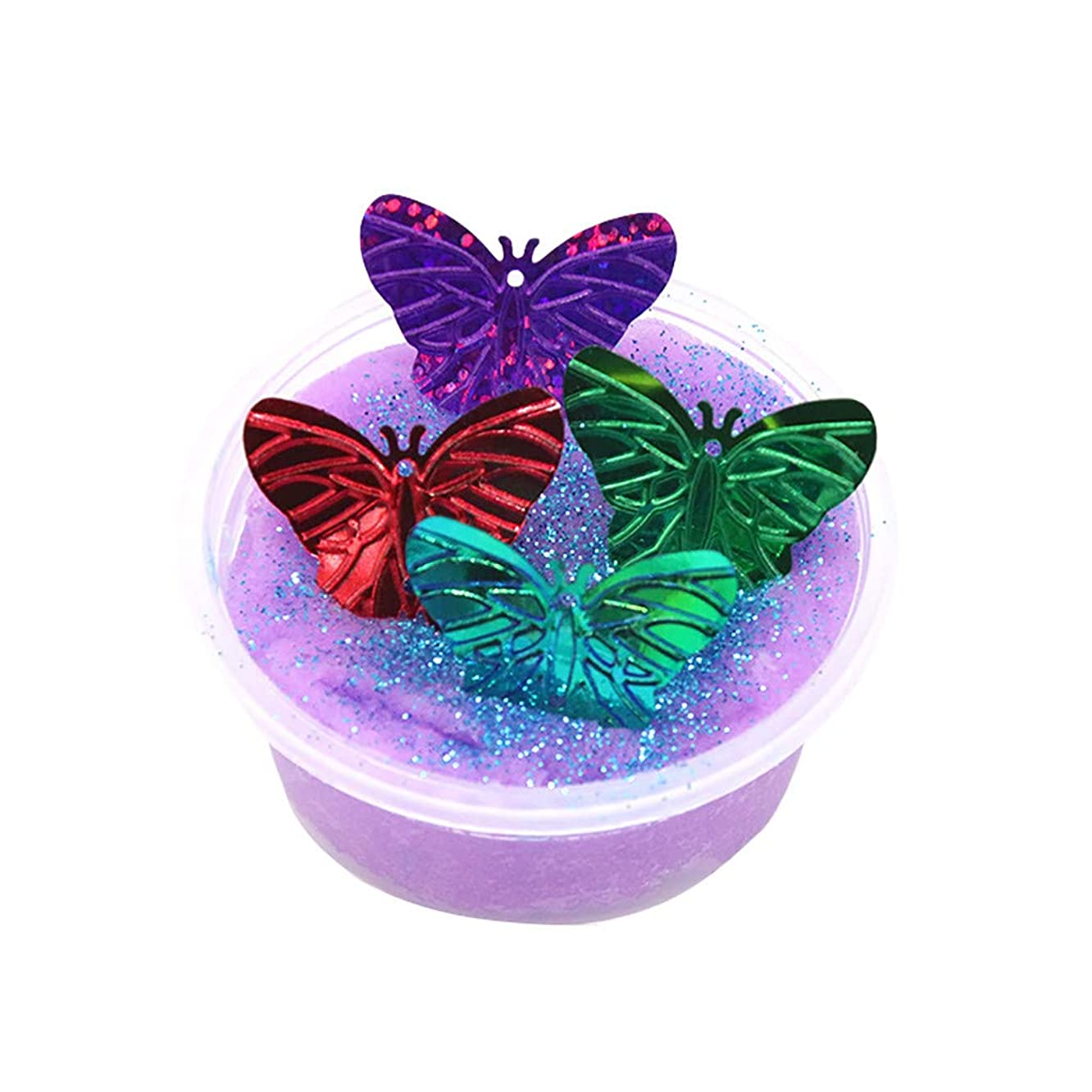 Kariwell Flash Sequins Clay Butterfly Cloud Slime - 60ML/100ML Putty Scented Stress Kids Clay Toy Great Childen Gift Kari-30
