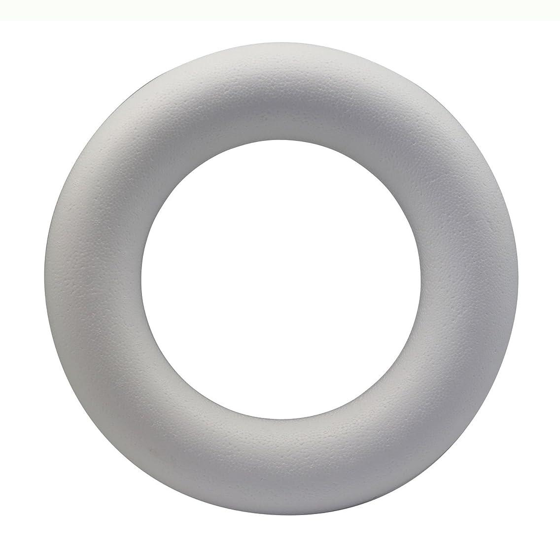 Glorex 3803?833?6?Styrofoam Half Ring Styrofoam, White, 30?x 30?x 4?cm