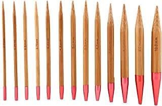 Set of 13 Carbonized Bamboo Knitting Needles Set Aluminum Circular Knitting Needles Ring Beginners