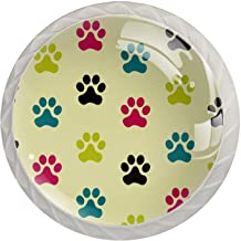AITAI Paw Dog Ronde Kast Knop 4 Pack Trekt Handgrepen