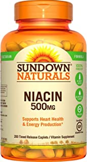 Sundown Naturals Niacin 500 mg Time Release Caplets 200 ea (Pack of 3)