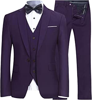 eggplant purple suit