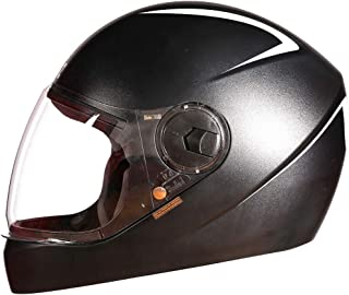 Steelbird SBH-21 Wiz Reflective Full Face Helmet (Large 600 MM, Dashing Black with Plain Visor)