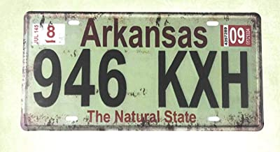 QDTrade Metal Sign 16 x 12inch - Arkansas 946 KXH The Natural State tin Sign car Plate Room Decor