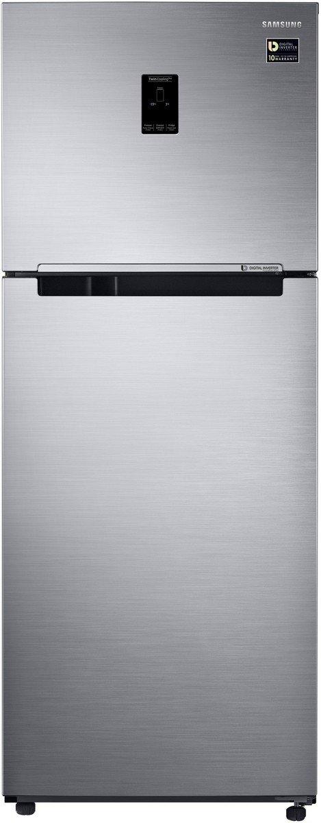 Samsung 394 L 2 Star (2019) Frost Free Double Door Refrigerator(RT39M5538S8/TL, Elegant Inox, Convertible, Inverter Compressor)