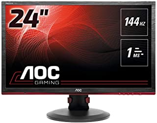 AOC G2460PF 61 cm (24 inch) monitor (DVI, HDMI, USB Hub, Displayport, 1 ms reactietijd, 1920 x 1080, 144 Hz, FreeSync) zwart