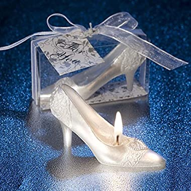 PinnacleT1 Crystal Shoe Candle,Romantic Fairy Tale Cinderella Crystal Shoes Creative Candle, Wedding, Valentine's Day, Home Decoration