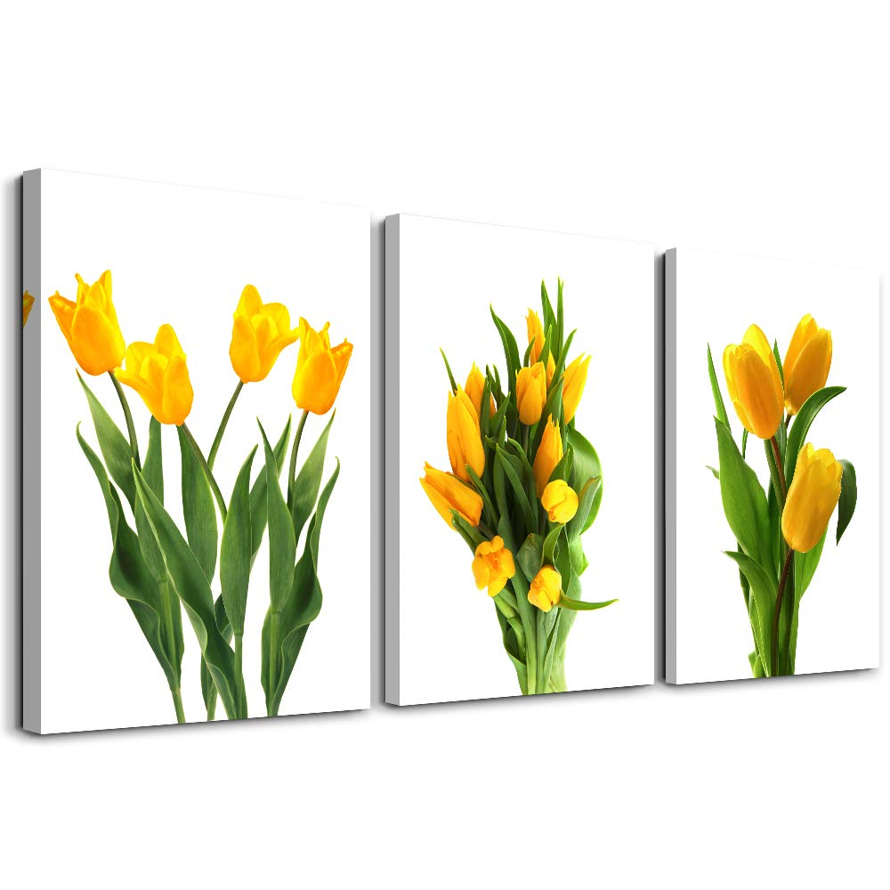 Modern Yellow Tulip Plants Flowers Canvas Wall Art For Bedroom Bathroom Wall Decor Canvas Prints For Living Room Decoration Office Home Decorations Mural Kitchen Wall Painting Posters Artworks Buy Online In Dominica