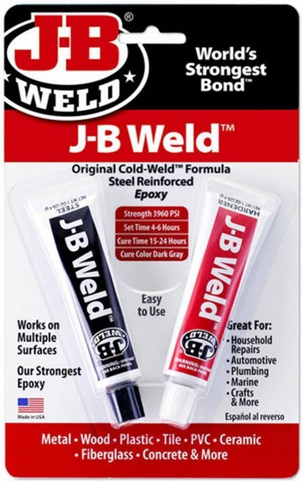 J-B Weld Company 8265-S 3 Pack Original Steel Reinforced Epoxy Twin Pack, Dark Grey