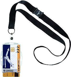 Durable Porte-badge de Acrylique avec clip (lot de 10) Ouvert - Avec cordon Two Cards claire