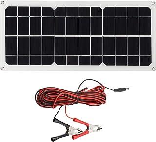 c/âble de Charge de Batterie de 4 m pour Bateau GOTOTOP Panneau Solaire Flexible 18 V Caravane Camping-Car 30 W