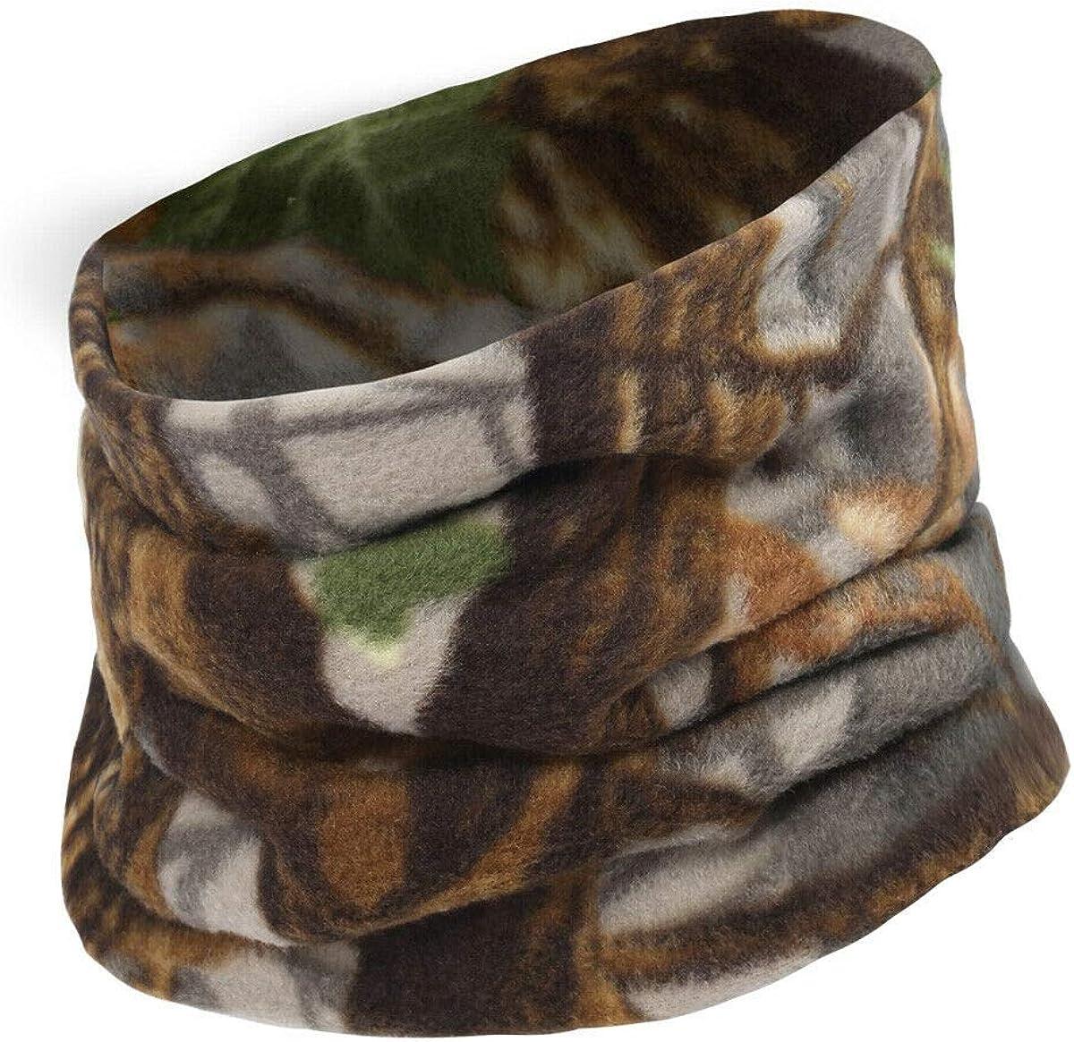 Cold Weather Fleece Neck Gaiter Camo Windproof Face Winter Neck Warmer - RC15