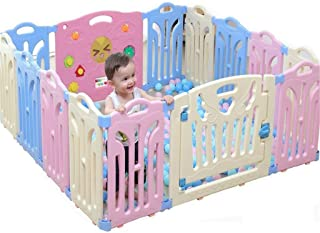 Baby Fence  Children s Play Fence Indoor Baby Fence Baby Crawling Mat Fence Home Toddler Fence Marine Ball  Send 100 Ocean Balls   Size 1 12x1 5m