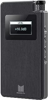 Monolith 124460 Portable Headphone Amplifier and Dac - Black with THX AAA Technology, Analog Input, Slim Design, Dirac Sensaround