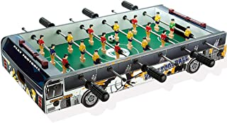 BXWQPP Adult Foosball Tabletop Games Set Gifts and Accessories Mini Portable Tabletops Soccer Kids Recreational Hand Soccer for Game Rooms Arcades Family Night 6 Rows Leisure Game