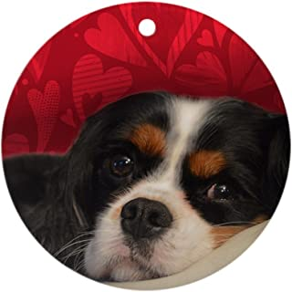 CafePress Tri Color Cavalier King Charles Spa Round Holiday Christmas Ornament