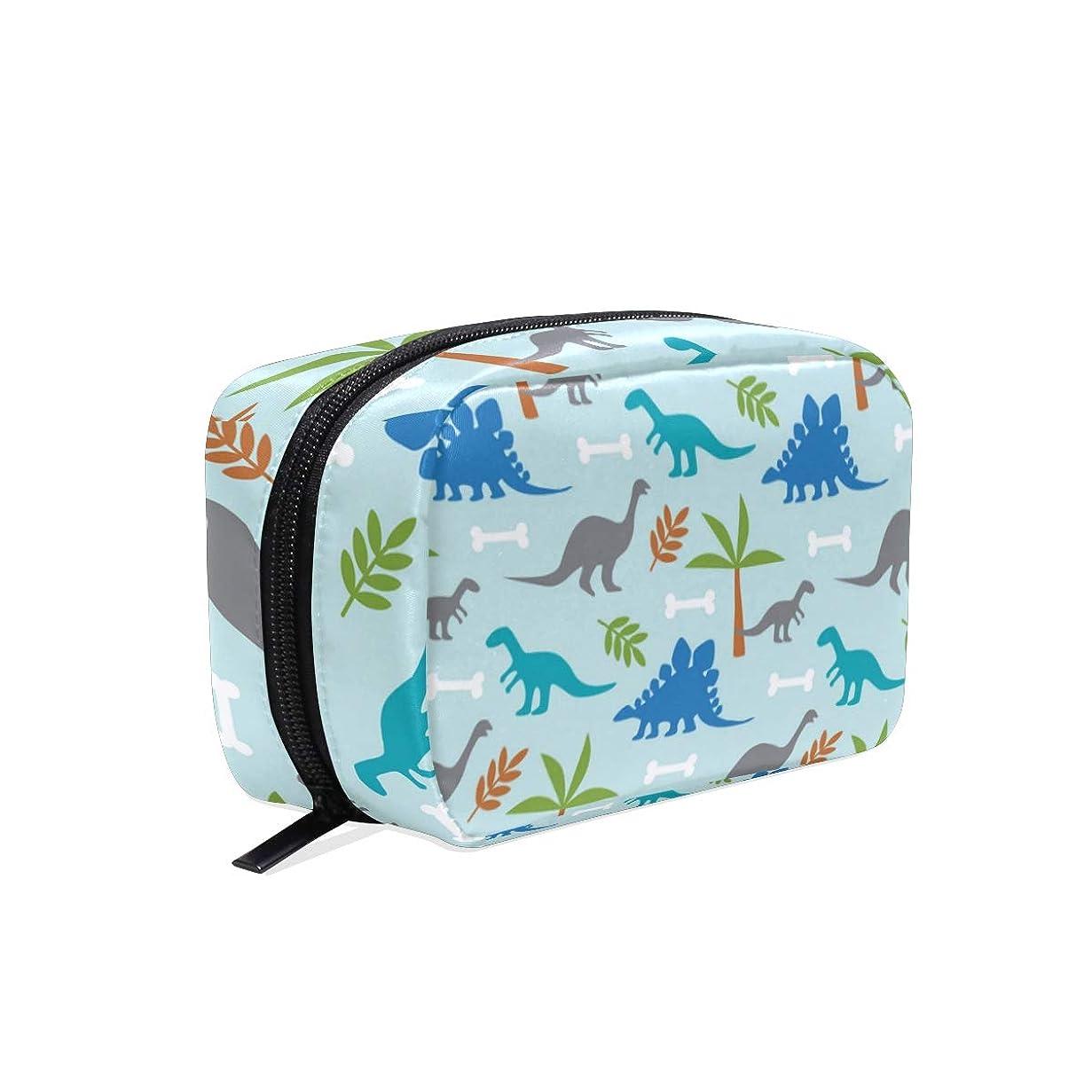 吐き出す取り囲む肥料可愛い恐竜 化粧ポーチ メイクポーチ 機能的 大容量 化粧品収納 小物入れ 普段使い 出張 旅行 メイク ブラシ バッグ 化粧バッグ