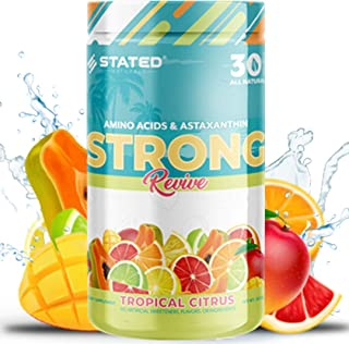 Strong Revive: All Natural Workout Performance & Recovery Powder   Vegan Essential Amino Acids (EAA), Organic Astaxanthin,...
