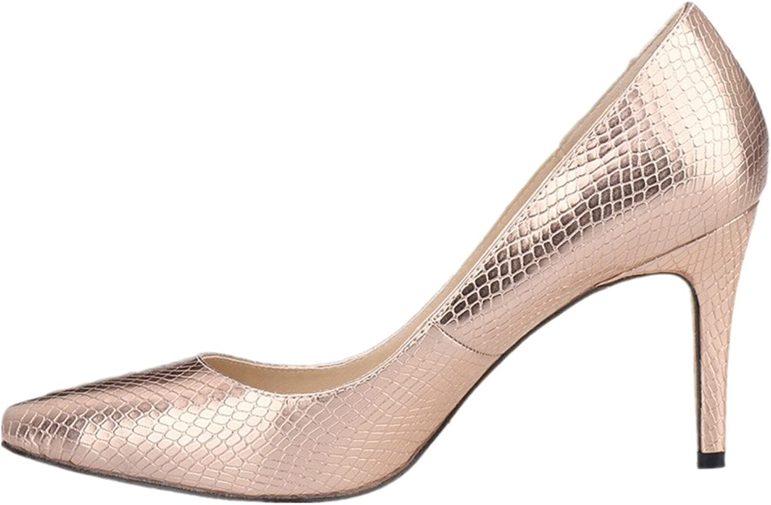 SAMSAY Women's Sexy Mid High Heels Pointed Toe Wedding Dress Pumps shoes