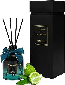 NEVAEHEART Reed Diffuser, Bergamot Scented Reed Diffuser Set, Home Fragrance Scent Diffuser, Oil Diffuser Sticks, 6.1 oz (180ml)