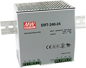 DIN Rail PS 240W 24V 10A DRT-240-24 Meanwell AC-DC 3-phase Output SMPS DRT-240 Series MEAN WELL Switching Power Supply