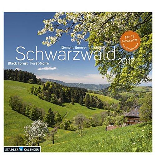 Schwarzwald 2017: Postkarten-Tischkalender