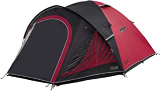 Coleman Tent The BlackOut 4, 4 man tent with BlackOut Bedroom Technology, Festival Essential, Family Dome Tent, 100% waterproof 4 person Camping Tent with sewn in groundsheet