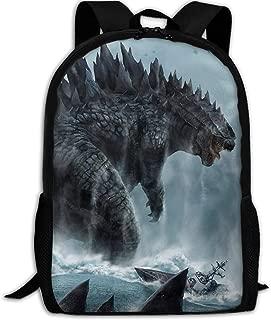 Godzilla Sea Print Multi-function Backpack College Bookbag