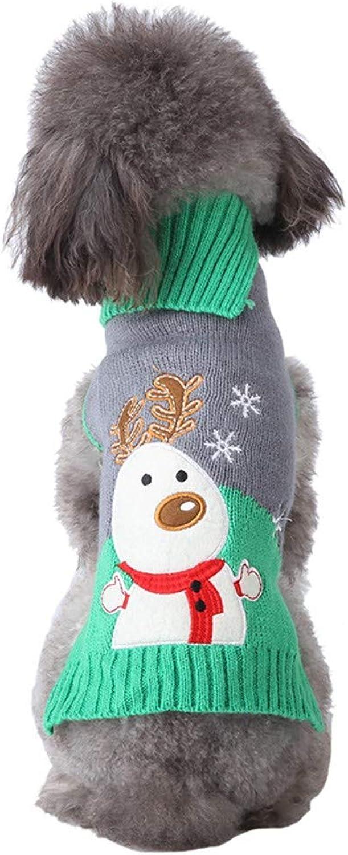 Dog Jumper Dog Jumpers Pet Dog Christmas Sweater Puppy Cat Winter Clothes Reindeer Coat Apparel