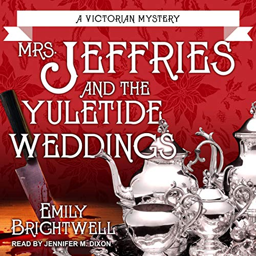 Mrs. Jeffries and the Yuletide Weddings audiobook cover art