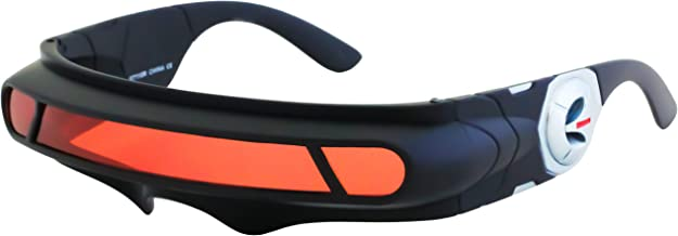 Futuristic Space Alien Costume Party Cyclops Shield Colored Mirror Mono Lens Wrap Sunglasses 147mm