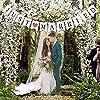 AONAT Just Married Drapeau De Tirage De Lettre De BannièRe De Mariage, DéCoration De Banquet De Mariage Ou Photomaton De Photographie De Mariage #4