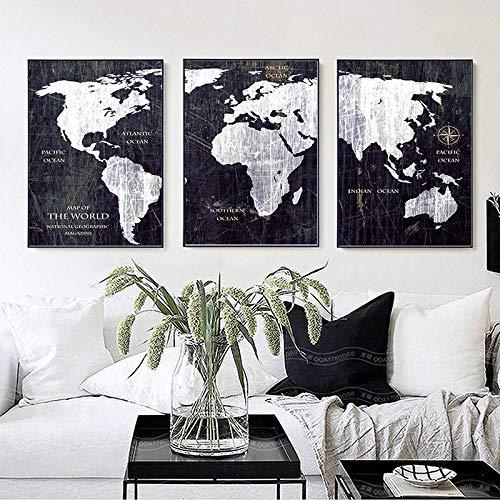 cuadro mapa mundo de la marca MZYZSL