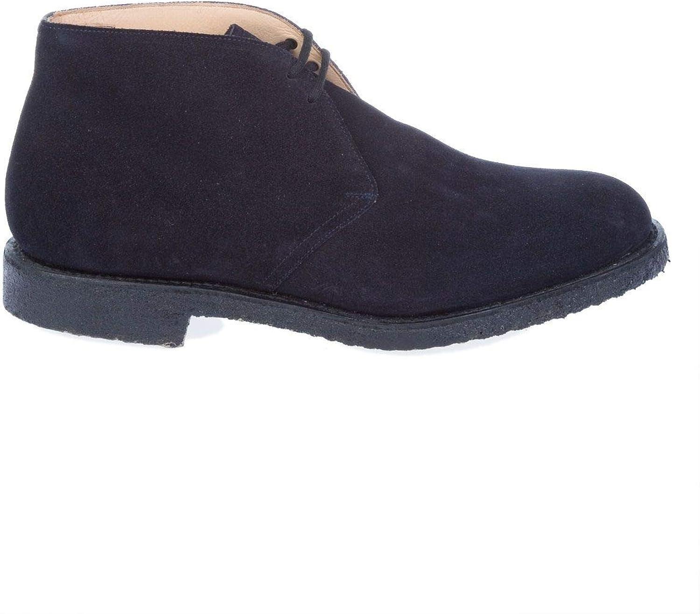 Church's Luxury Fashion Herren RYDER81CASTGoldNAVY Blau Desert Stiefel   Jahreszeit Outlet