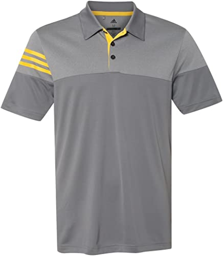 Adidas Pour des hommes Moisture-Wicking lumièreweight Polo, gris jaune-petit