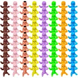80 Pieces Mini Babies for Baby Shower - Mini Plastic Babies Tiny Baby Dolls for Party Favors Party Decorations Baby Bathing and Crafting, 8 Colors