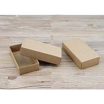 Caja de Regalo Grande con Tapa, 20 Unidades, Caja de cartón Negra, Caja de jabón de Papel Kraft, Cajas de cartón Blanco para Embalaje, marrón, 29x24x3cm: Amazon.es: Hogar