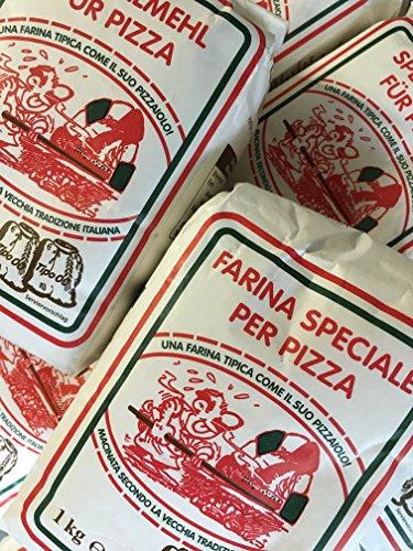 10 Packungen a 1,0 Kg Pizzamehl vom Shop-of-Wonder ® Weizenmehl Typ 00 geeignet für die Zubereitung von Pizza, Pizzabrötchen und Ciabatta