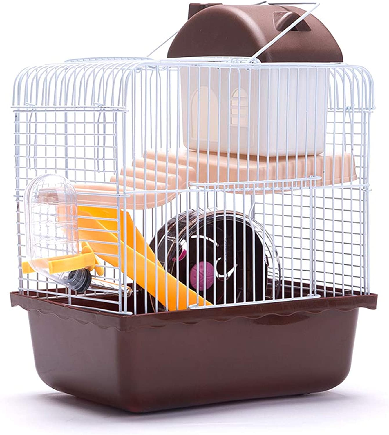 Hamster Cage Small Animal Habitat with Exercise Wheel Water Bottle and Hideout Need to Assemble Yourself for Pets Rodent Gerbil Mouse Mice Rat