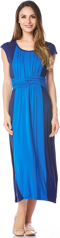 Bearsland Women's Summer Long Style Sleeveless Breastfeeding Nursing Dress
