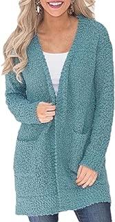 Women's Long Sleeve Open Front Soft Cardigan Outwear Chunky Knit Sweater