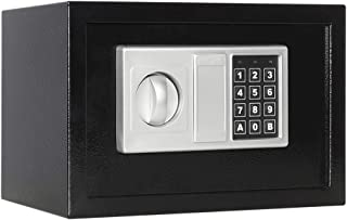 Lovndi Securitay Lock Box with Keypad, 0.33 Cubic Feet Digital Steel Safe Box for Home Office, 12.2×7.8×7.8 inches, Black