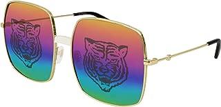 Gucci GG0414S Fashionable Oversize Square Metal Sunglasses 60mm