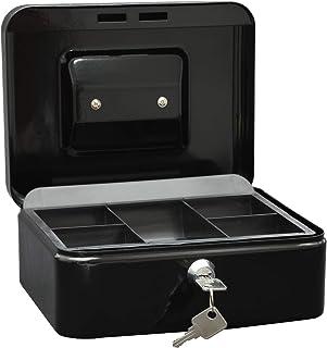 Wedo 145221X Caissette à monnaie à 5 compartiments 20 x 16 x 9 cm Noir