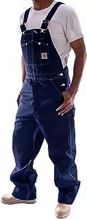 Carhartt Men's Washed-Denim Unlined Bib Overalls R07 W34L34