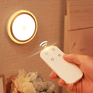 Awehome LED Night Light with Remote, Warm White, 4 Brightness, 10 Minutes Timer, 600mAh USB Rechargeable Remote Control Li...