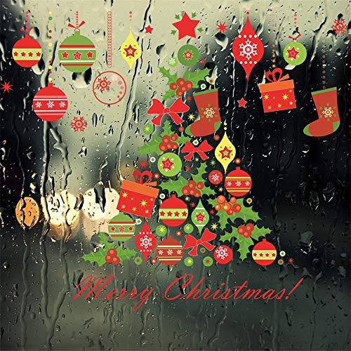 2REMISE 2019 Navidad Nueva Pegatina Árbol De Navidad Regalo Campanas De Viento Sala De Estar Tv Fondo Etiqueta De La ParedA65*76cm