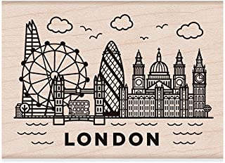 Hero Arts Destination London Red Rubber Stamp