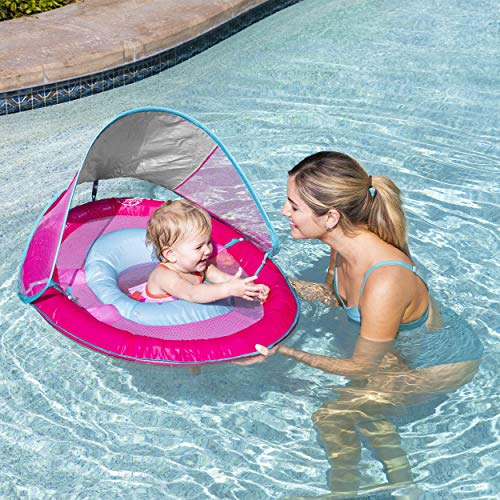 SwimWays Baby Spring Float w/ Canopy  Pink
